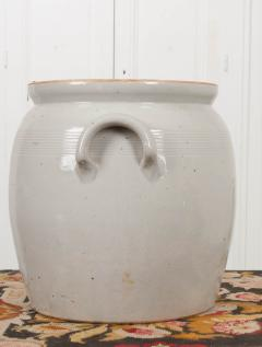 Large French Vintage Glazed Earthenware Crock - 1064726
