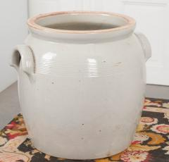 Large French Vintage Glazed Earthenware Crock - 1064728