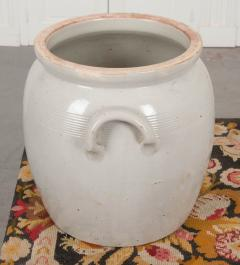 Large French Vintage Glazed Earthenware Crock - 1064729