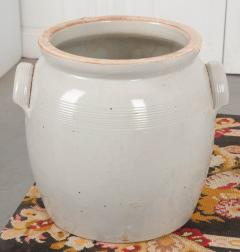 Large French Vintage Glazed Earthenware Crock - 1064731