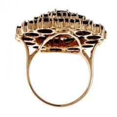 Large Garnet Gold Cluster Cocktail Ring - 326409