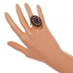 Large Garnet Gold Cluster Cocktail Ring - 326413