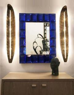 Large Gilded Leaf Murano Glass Sconces - 1288221