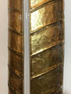 Large Gilded Leaf Murano Glass Sconces - 1288243