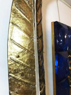 Large Gilded Leaf Murano Glass Sconces - 1288245