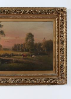 Large Giltwood Framed Oil Board Painting - 1347564