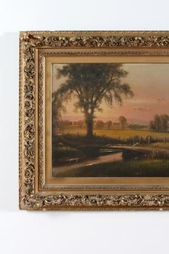 Large Giltwood Framed Oil Board Painting - 1347565