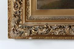 Large Giltwood Framed Oil Board Painting - 1347566