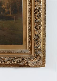 Large Giltwood Framed Oil Board Painting - 1347567