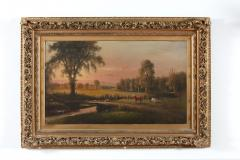 Large Giltwood Framed Oil Board Painting - 1347568