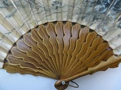 Large Hand Held Fan Columbian Exposition Circa 1893  - 677467