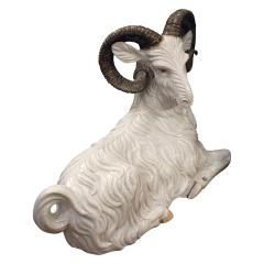 Large Hand Painted Ceramic Goat 1950s signed  - 829649
