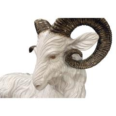 Large Hand Painted Ceramic Goat 1950s signed  - 829653
