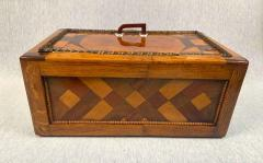 Large Historicism Box Different Hardwoods South Germany circa 1860 1880 - 1808455