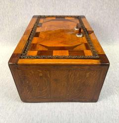 Large Historicism Box Different Hardwoods South Germany circa 1860 1880 - 1808461