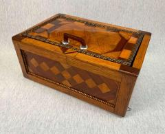 Large Historicism Box Different Hardwoods South Germany circa 1860 1880 - 1808473
