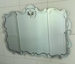Large Hollywood Regency Bevelled Etched Mirror - 1681280