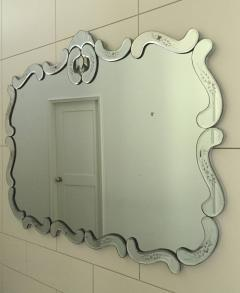 Large Hollywood Regency Bevelled Etched Mirror - 1681283