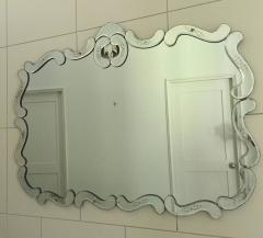 Large Hollywood Regency Bevelled Etched Mirror - 1681284