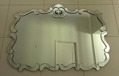 Large Hollywood Regency Bevelled Etched Mirror - 1681298