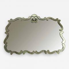 Large Hollywood Regency Bevelled Etched Mirror - 1682756