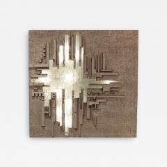 Large Illuminated Modernist Wall Sculpture - 1554691