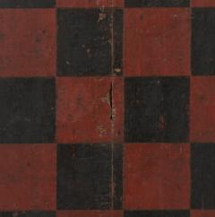 Large Impressive Paint Decorated Game Board in Red Black circa 1845 - 636722
