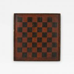 Large Impressive Paint Decorated Game Board in Red Black circa 1845 - 637232