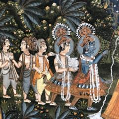 Large Indian Pichhavai Painting 19th Century - 715195