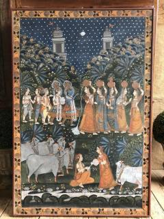 Large Indian Pichhavai Painting 19th Century - 715197