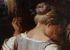 Large Italian Pastural Landscape Oil Painting - 1521945