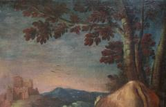 Large Italian Pastural Landscape Oil Painting - 1521946