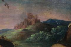 Large Italian Pastural Landscape Oil Painting - 1521947