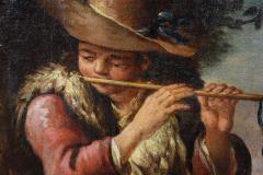 Large Italian Pastural Landscape Oil Painting - 1521951