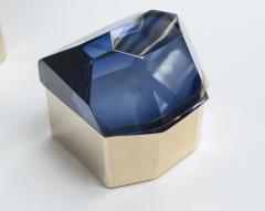 Large Italian Polished Diamond Faceted Box contemporary - 1184423