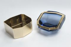 Large Italian Polished Diamond Faceted Box contemporary - 1184441