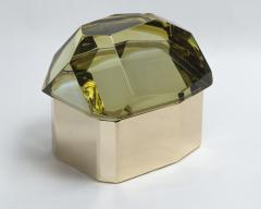 Large Italian Polished Diamond Faceted Box contemporary - 1184378