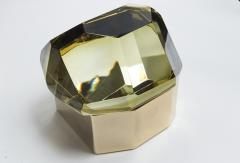 Large Italian Polished Diamond Faceted Box contemporary - 1184425