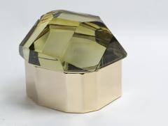 Large Italian Polished Diamond Faceted Box contemporary - 1184432