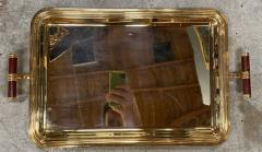 Large Italian Rectangular Tray Gold Plated 24k 1970s - 1582248