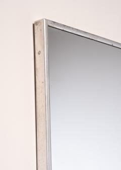 Large Italian Wall mirror with elegant nickel frame - 1904182
