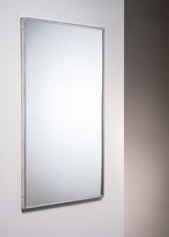Large Italian Wall mirror with elegant nickel frame - 1904183