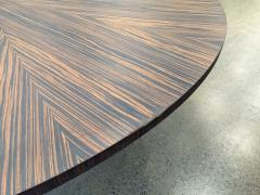 Large Italian Zebra Wood Center Table - 2046103