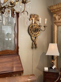 Large Italian baroque style 3 arm giltwood and iron wall sconce now electrified - 2130968
