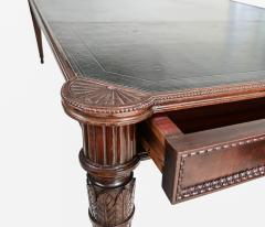 Large Italian library table in the 18th century style ex collection Pierre Berg  - 1101145