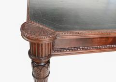 Large Italian library table in the 18th century style ex collection Pierre Berg  - 1101146