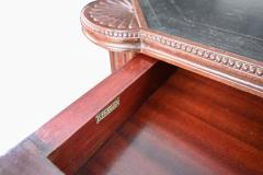 Large Italian library table in the 18th century style ex collection Pierre Berg  - 1101147