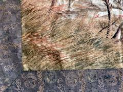 Large Japanese Embroidery Tapestry Meiji Period - 1542174