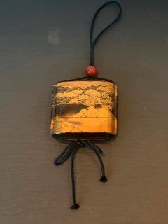 Large Japanese Lacquer Inro with Maki e Landscape Meiji Period - 1597996