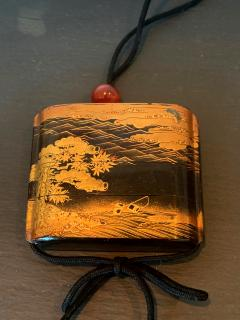 Large Japanese Lacquer Inro with Maki e Landscape Meiji Period - 1598000
